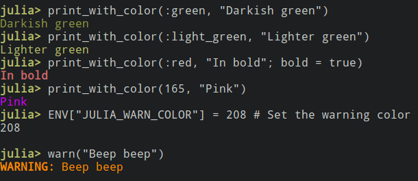 Colors in 0.6